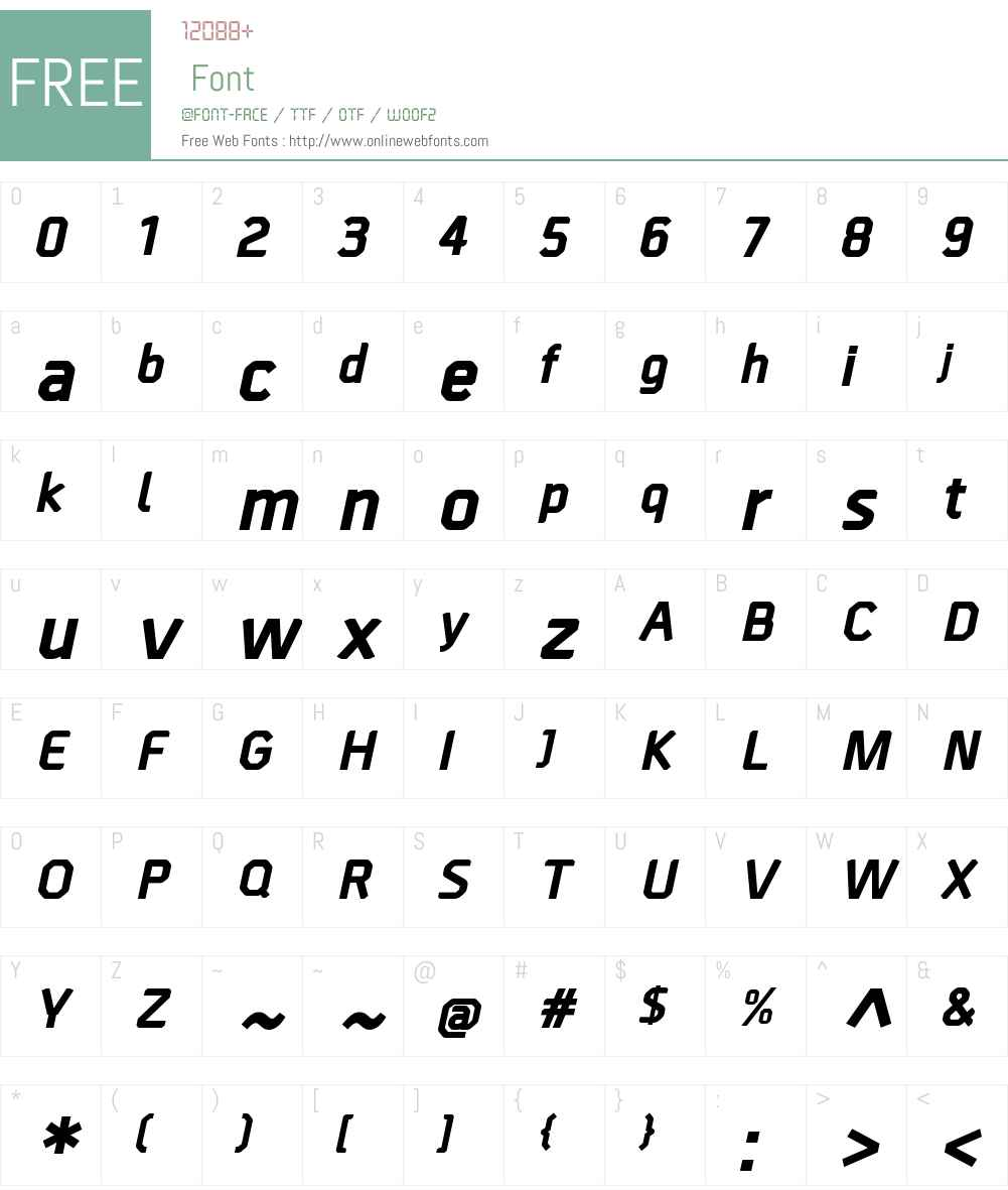BordaW00-ExtraBoldItalic Font Screenshots