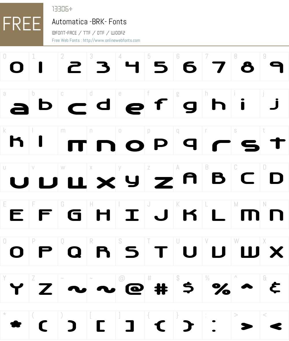 Automatica (BRK) Font Screenshots