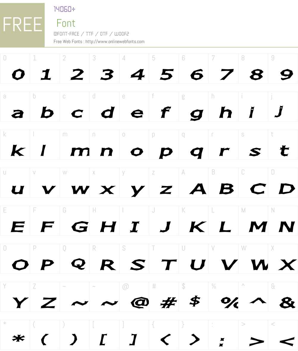 Chizz Wide Font Screenshots