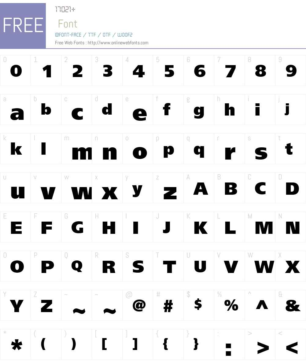 FreeSetBlackC Font Screenshots