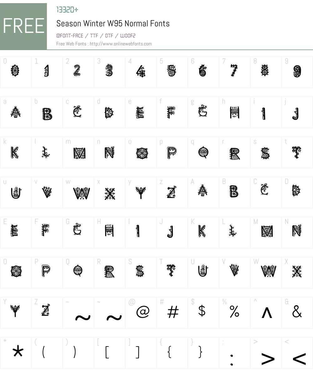 SeasonWinterW95-Normal Font Screenshots