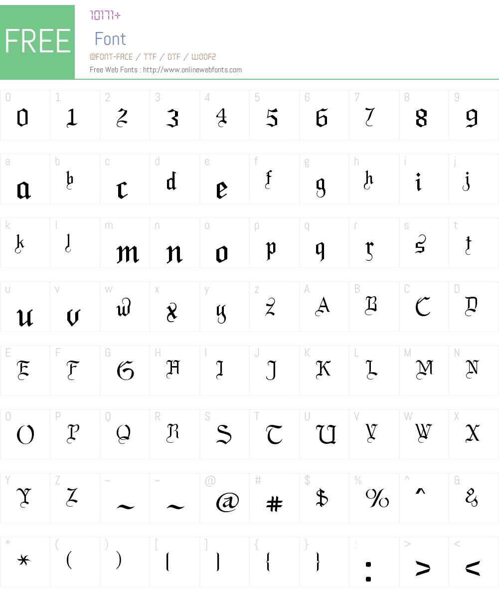 LaBrit Font Screenshots