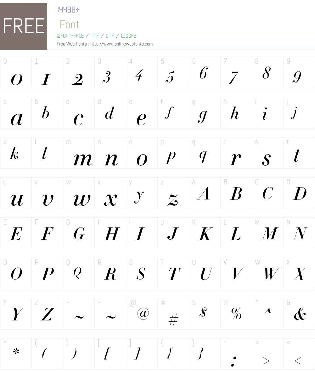 Didot Font Screenshots