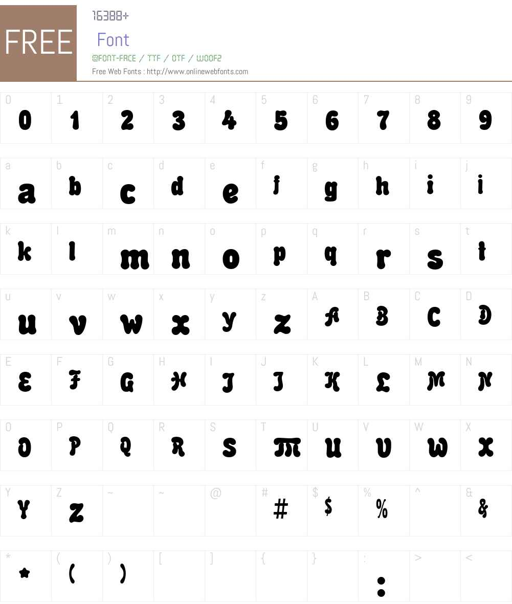 Malahit Font Screenshots
