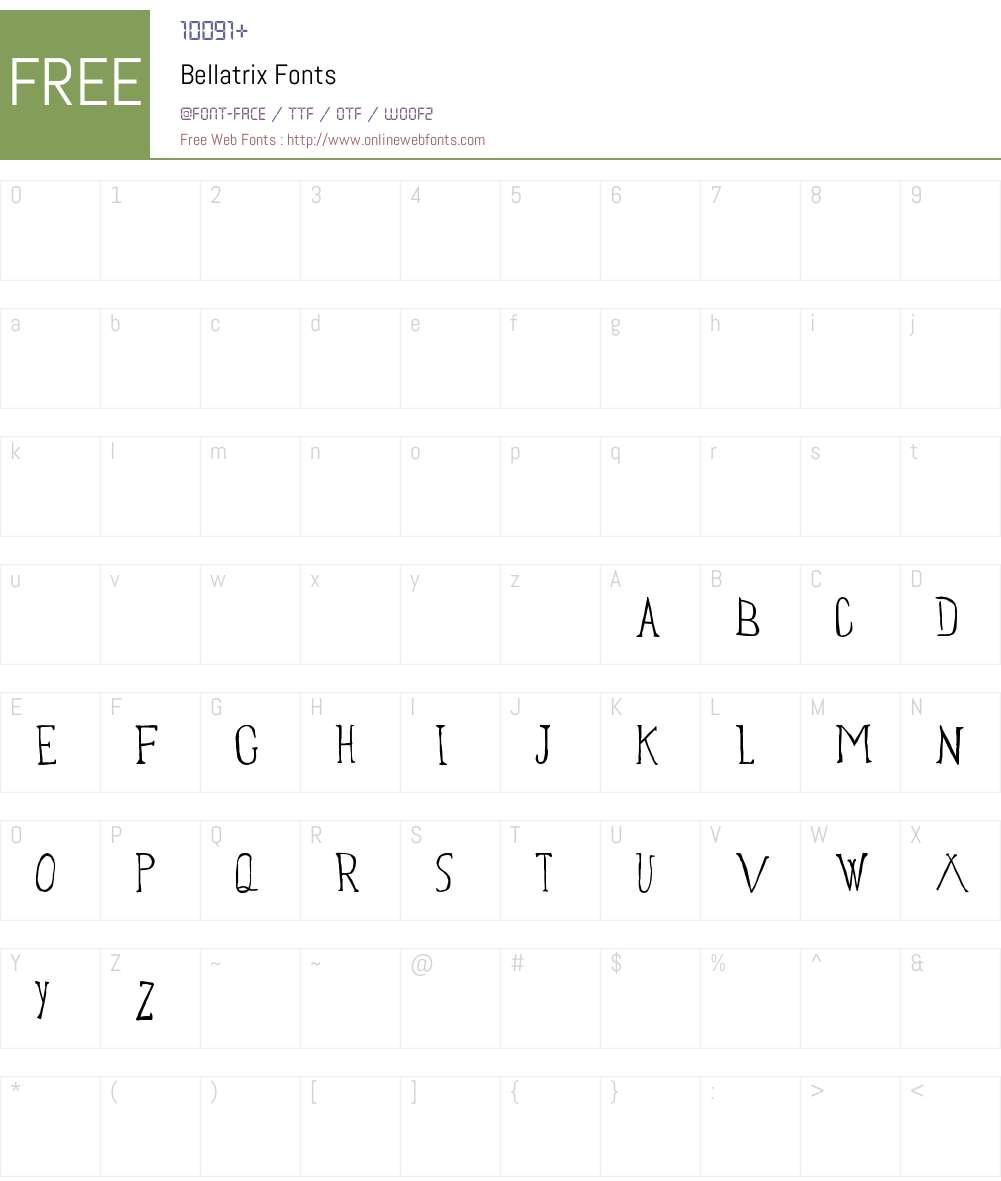 Bellatrix Font Screenshots