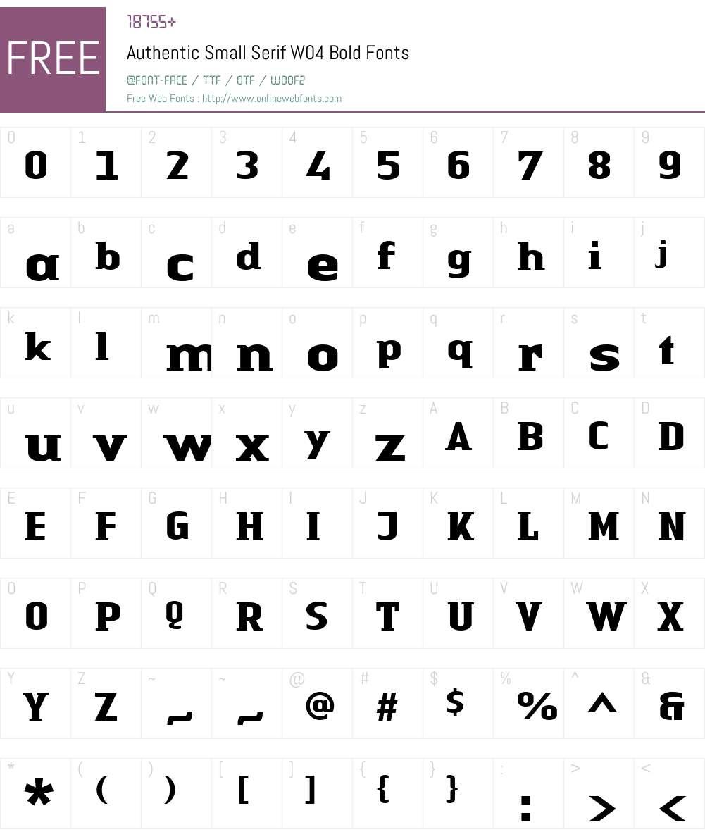 Linotype Authentic Small Serif Font Screenshots