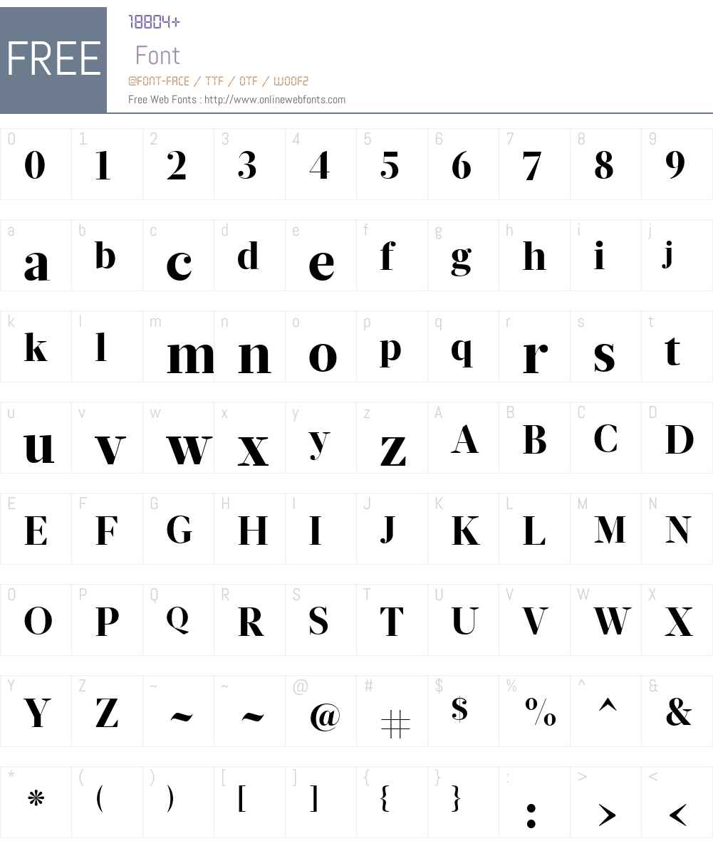 Glosa Display Font Screenshots
