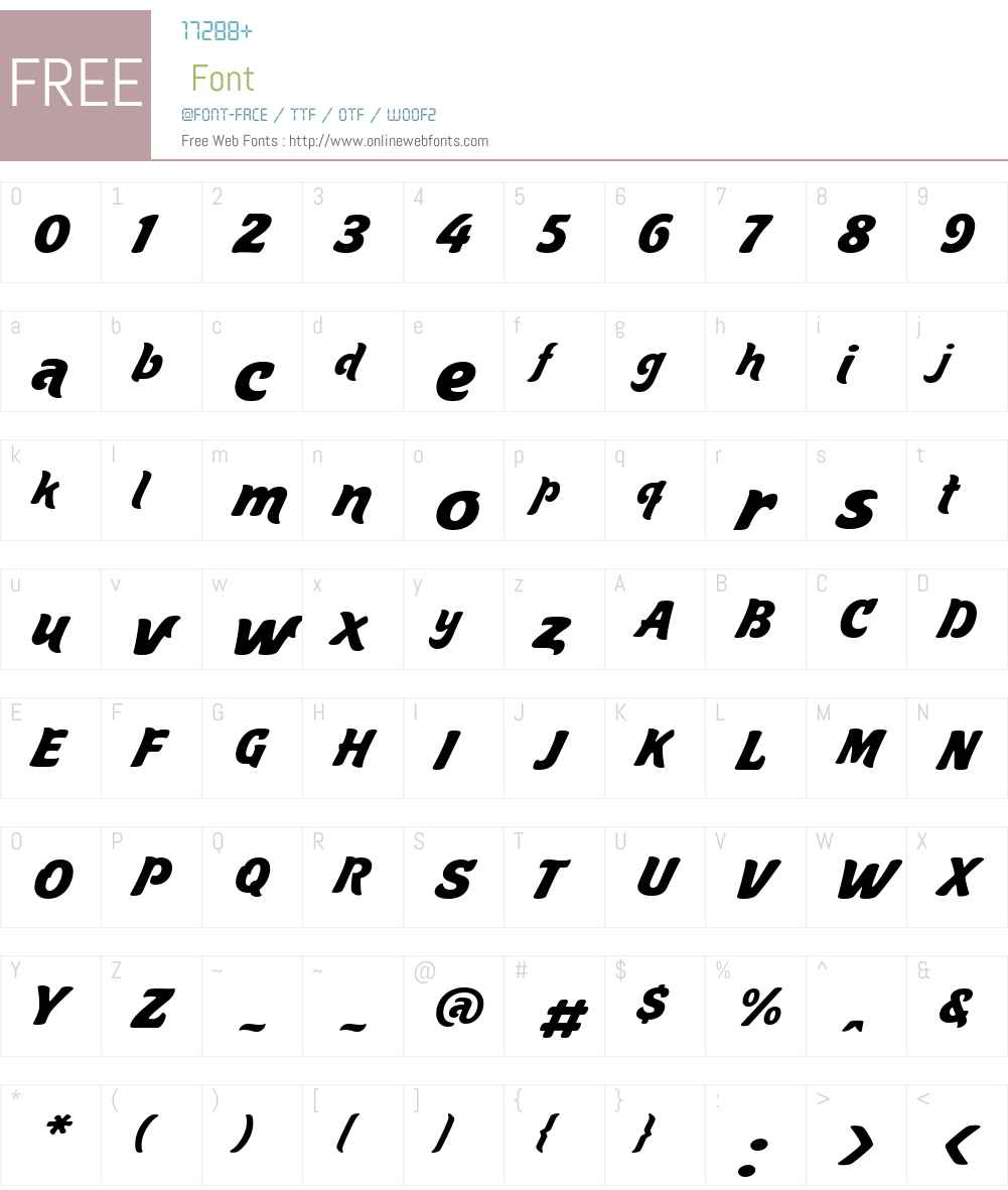 Aventura Font Screenshots