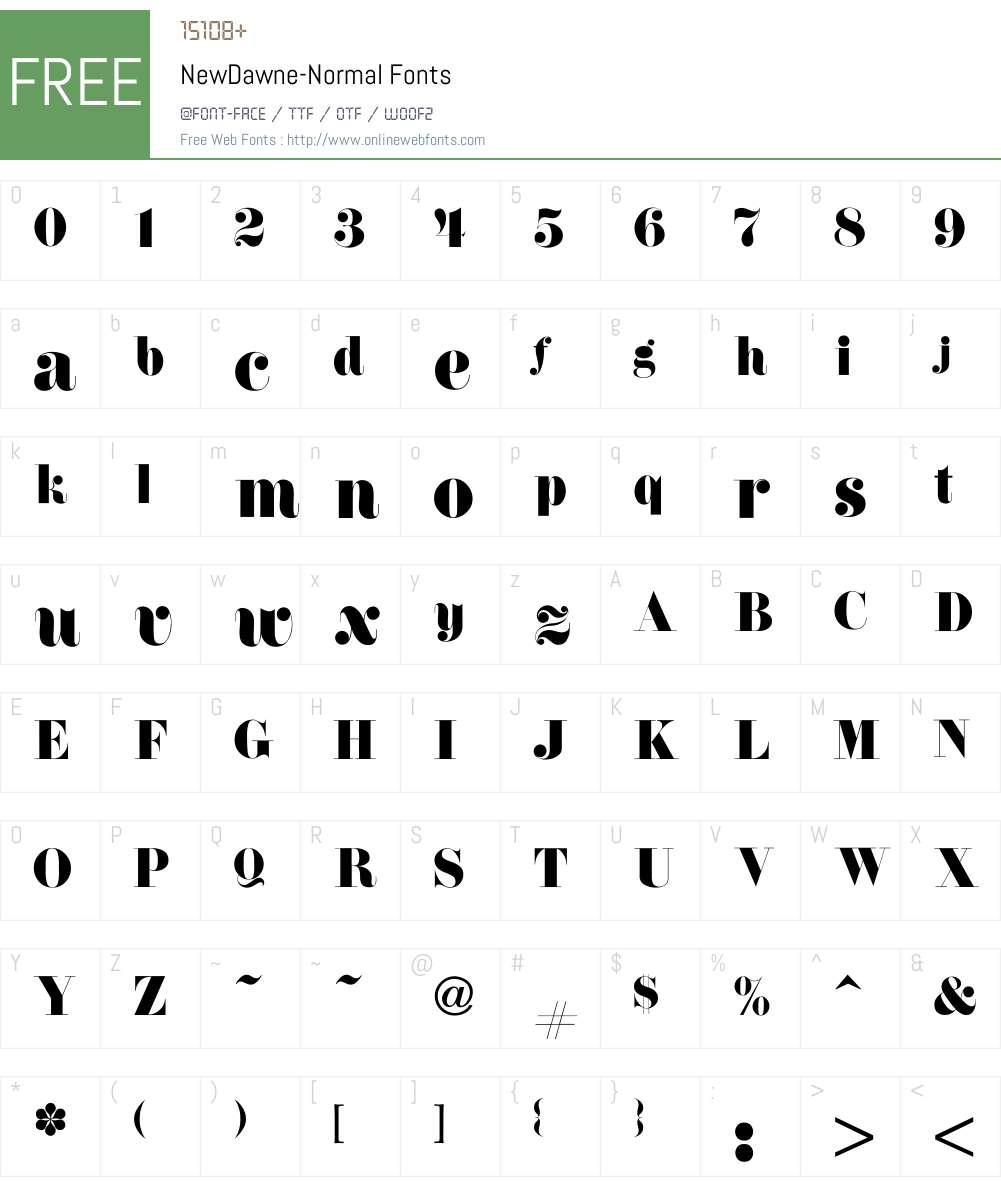 NewDawne-Normal Font Screenshots