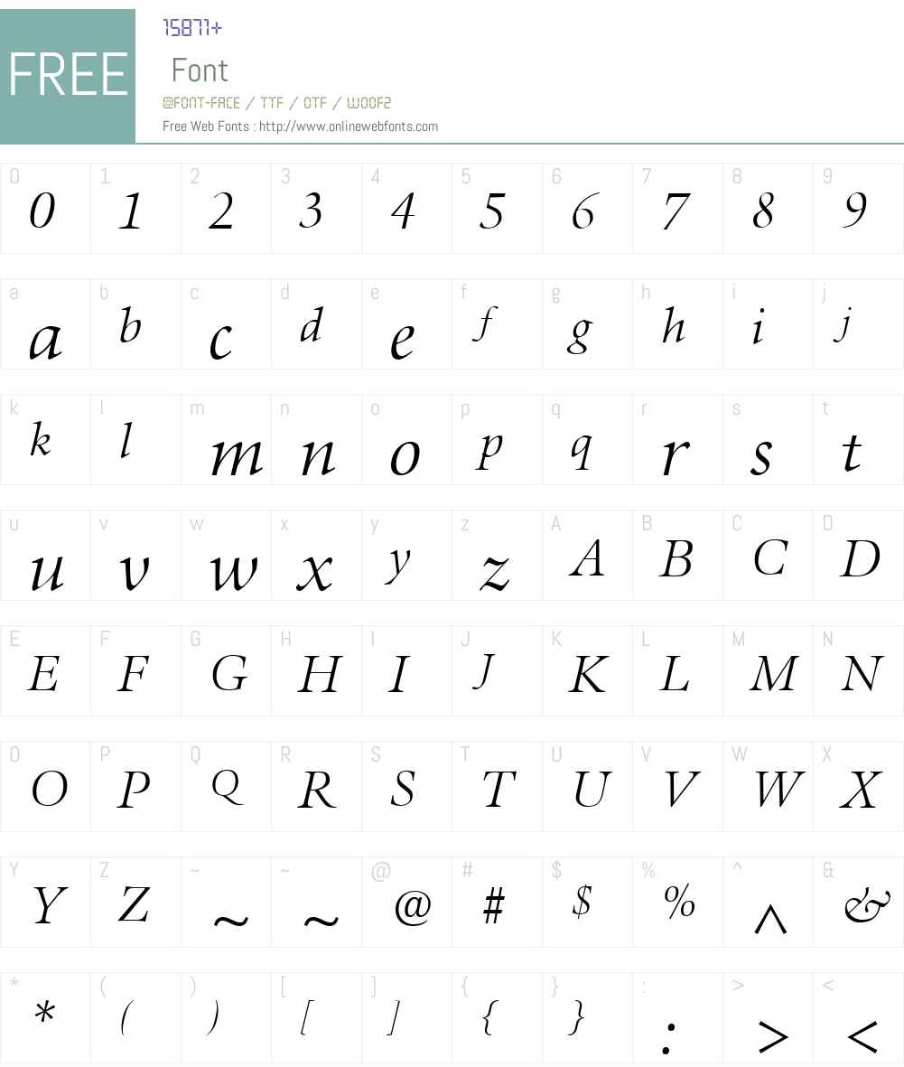 AureliaW01-LightItalic Font Screenshots