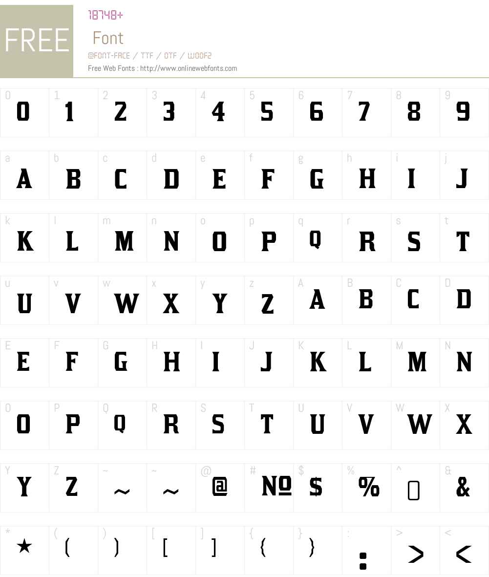 KirstyW00-Regular Font Screenshots