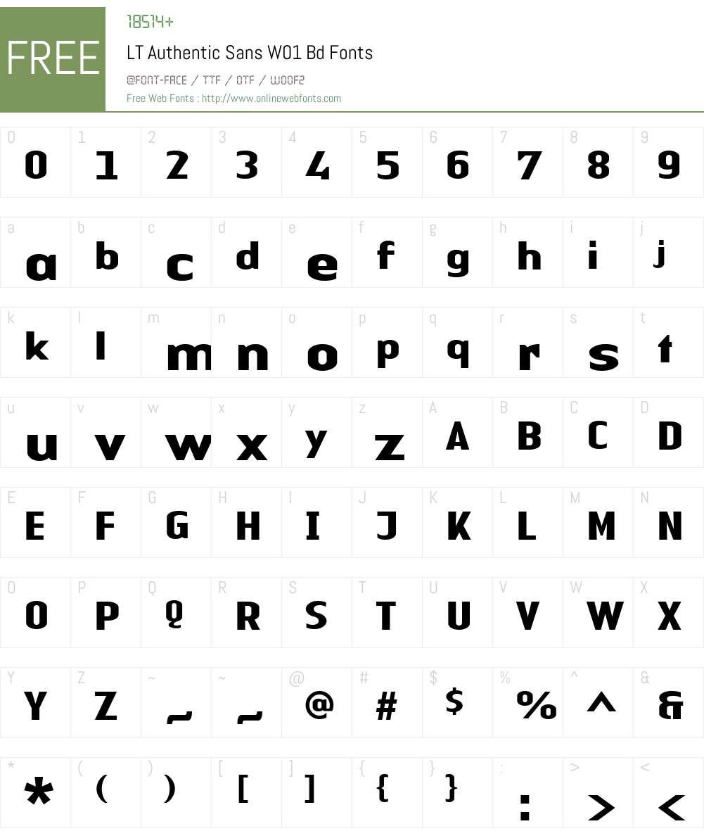 LTAuthenticSansW01-Bd Font Screenshots