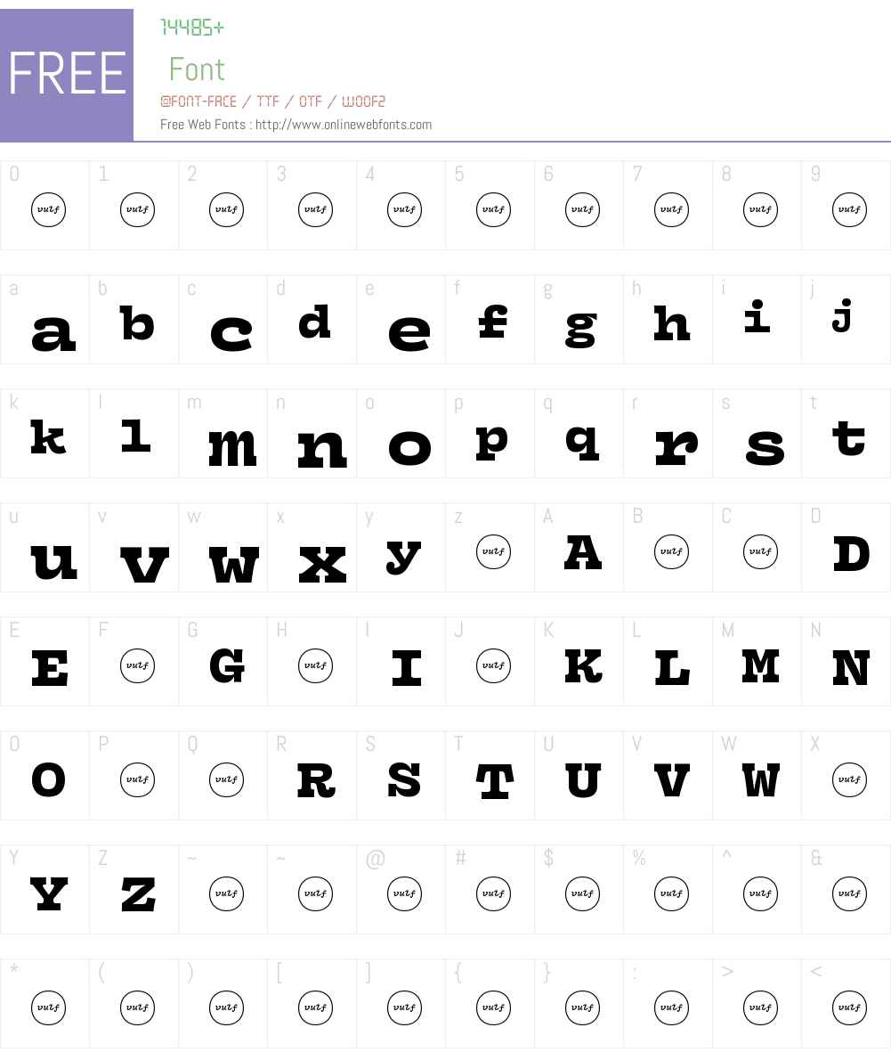 IFWSLA+VulfMono-Black Font Screenshots