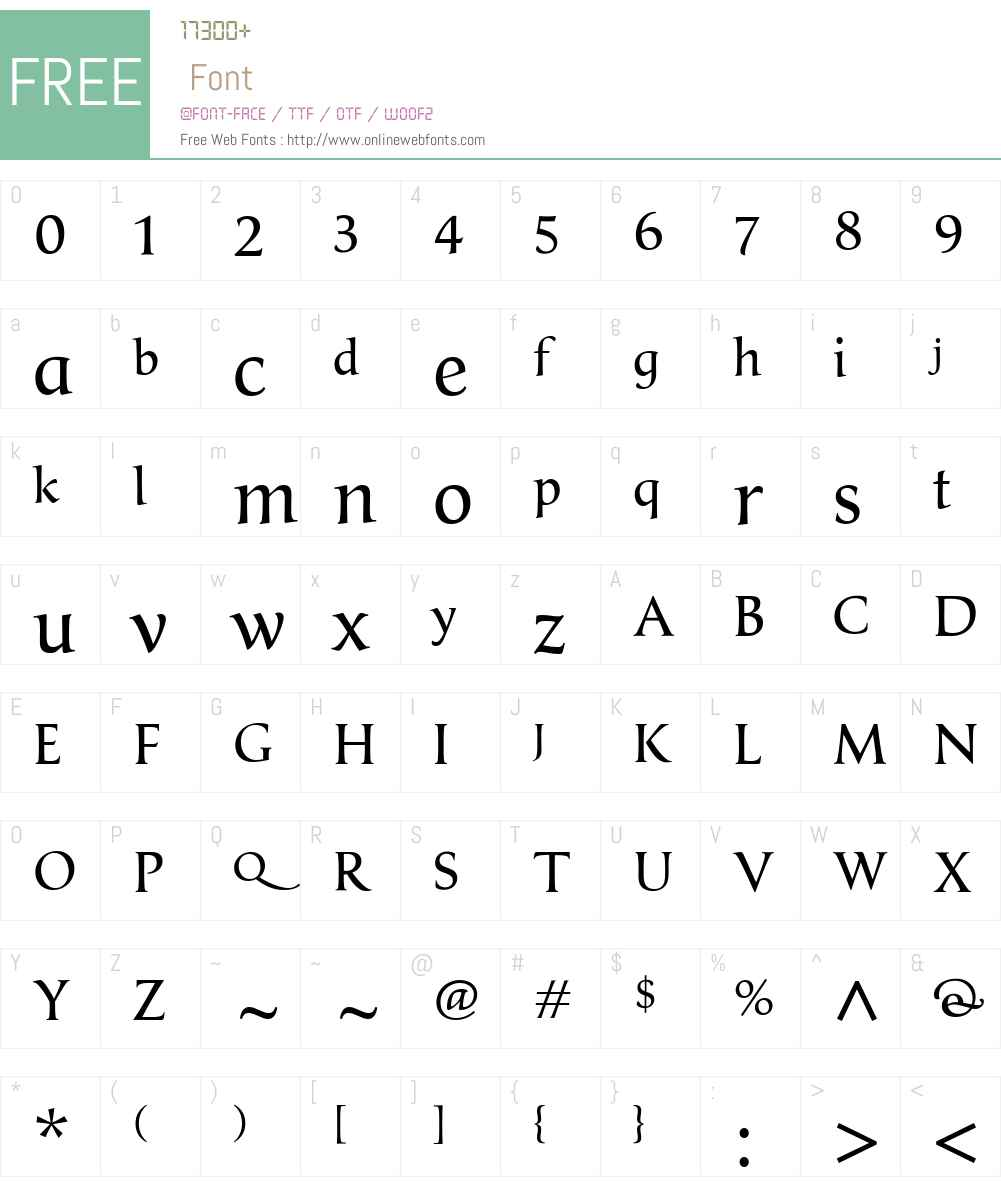 ClassicaGallicW00-Regular Font Screenshots
