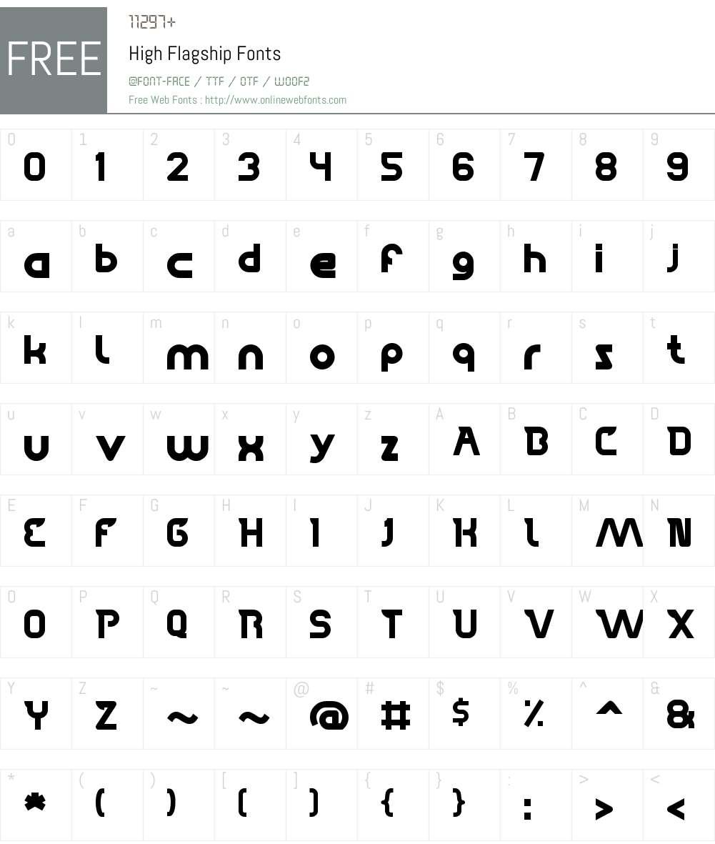 High Flagship Font Screenshots