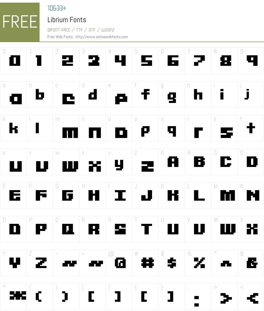 Librium Font Screenshots