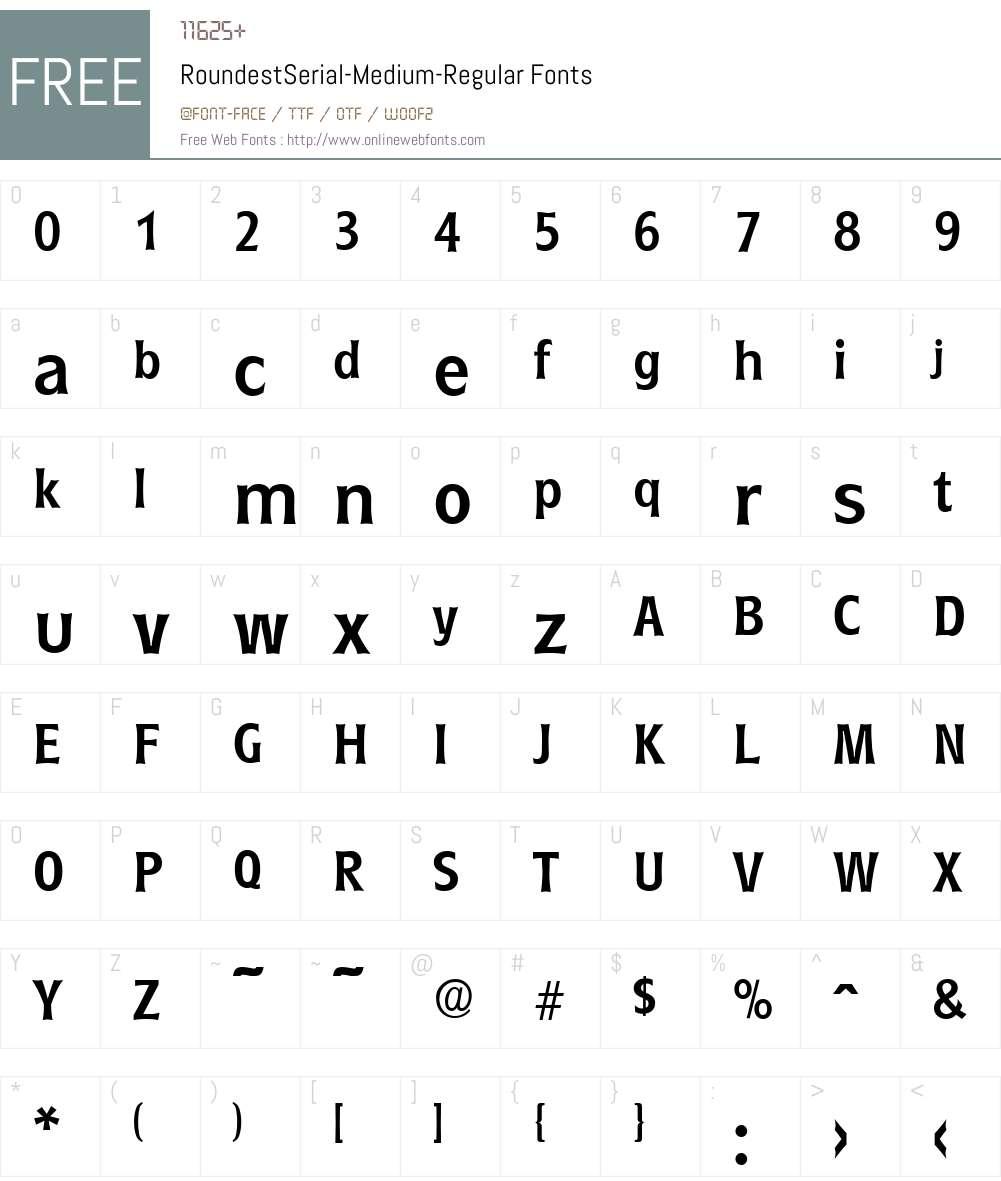 RoundestSerial-Medium Font Screenshots