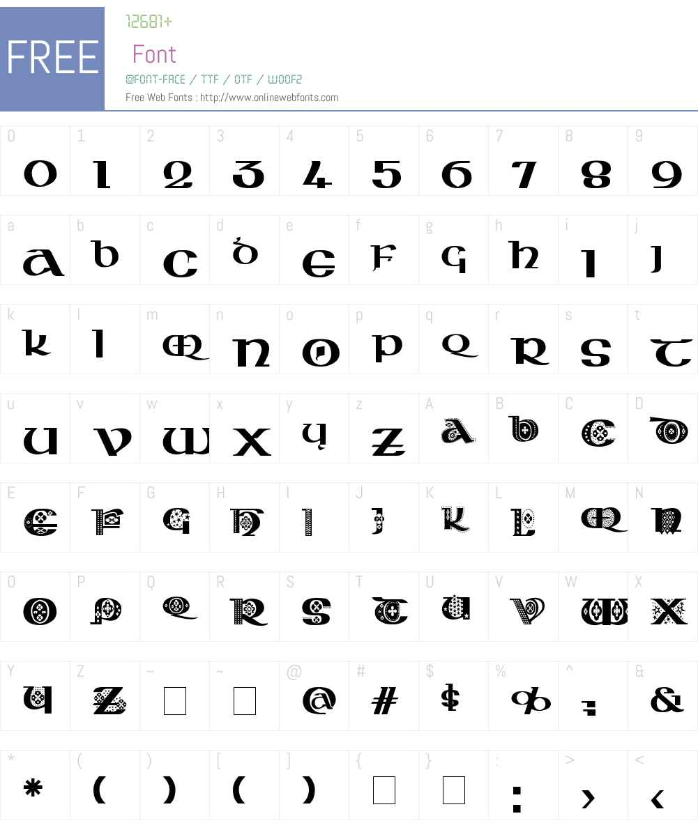 Kingthings Kelltika Font Screenshots