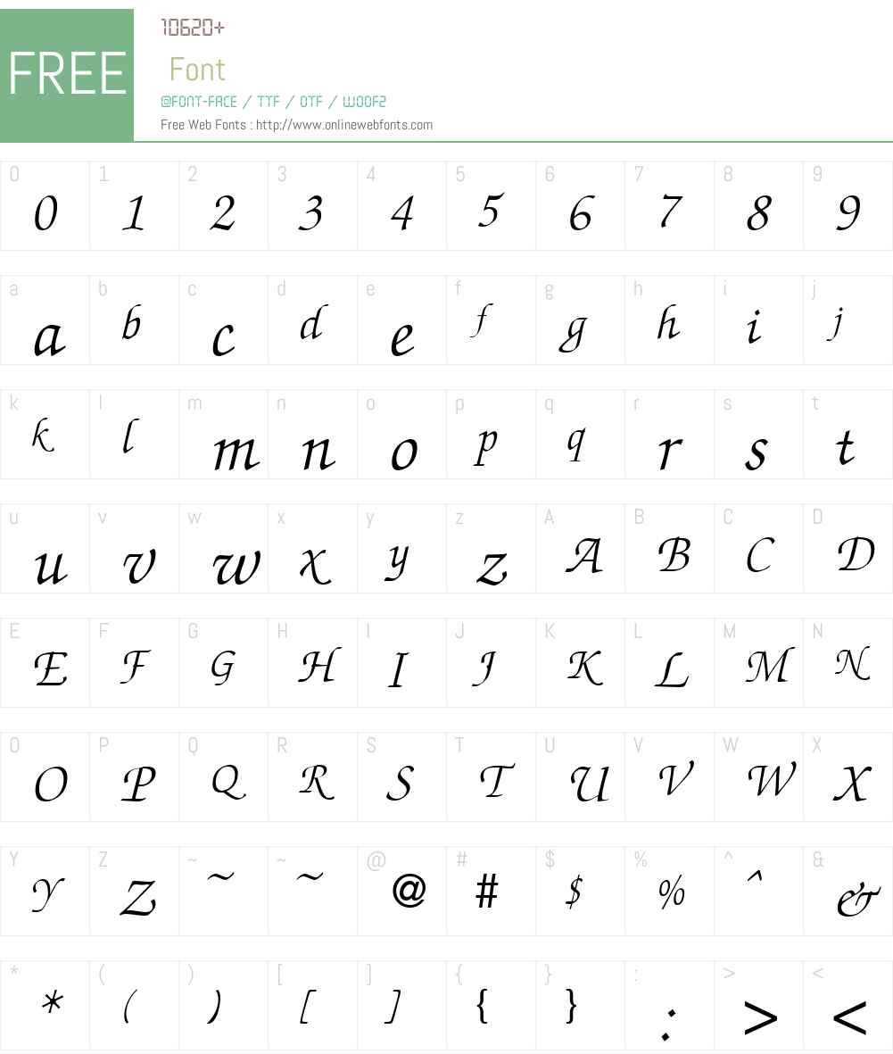 ZabriskieScript DB Font Screenshots
