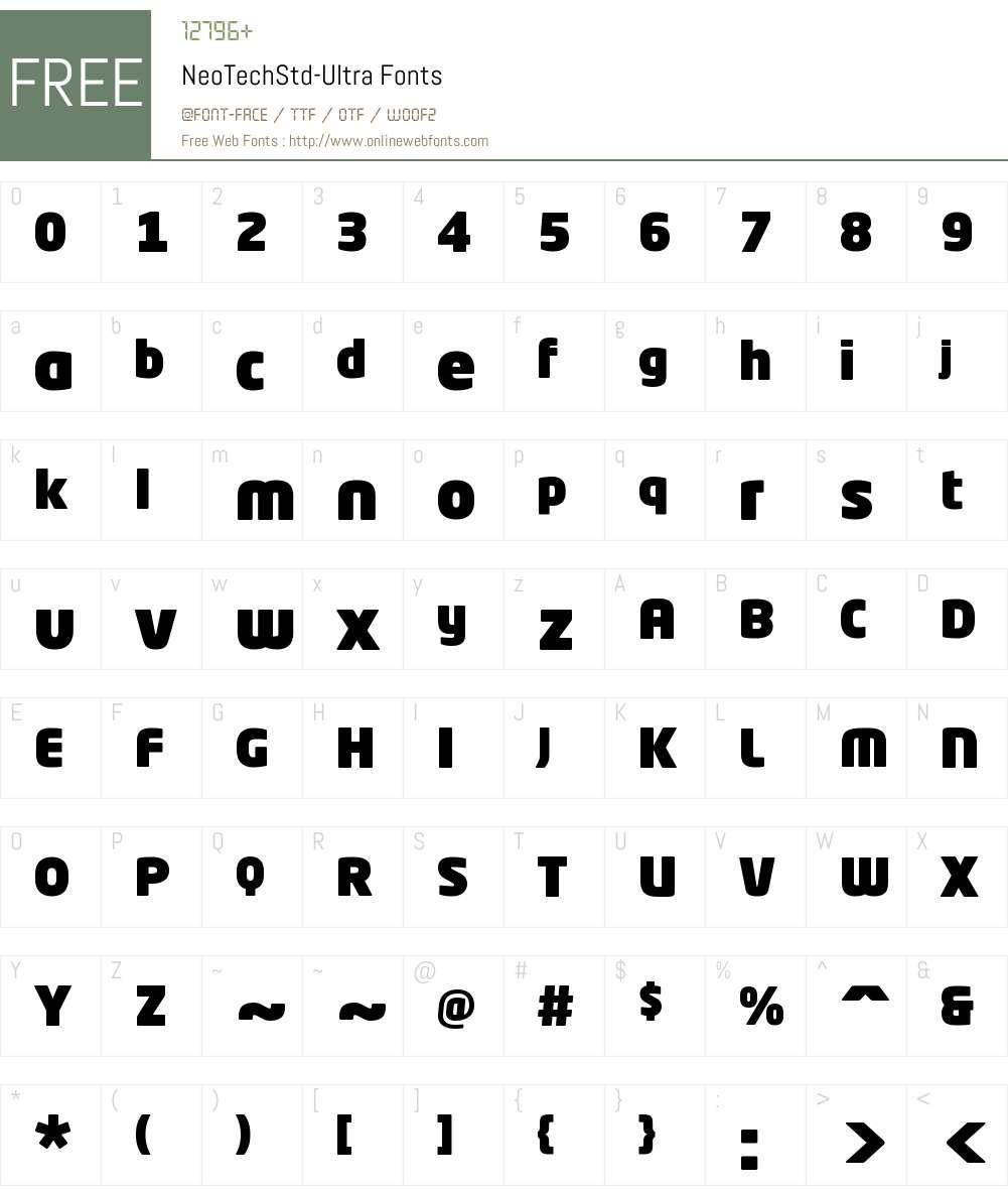 Neo Tech Std Ultra Font Screenshots