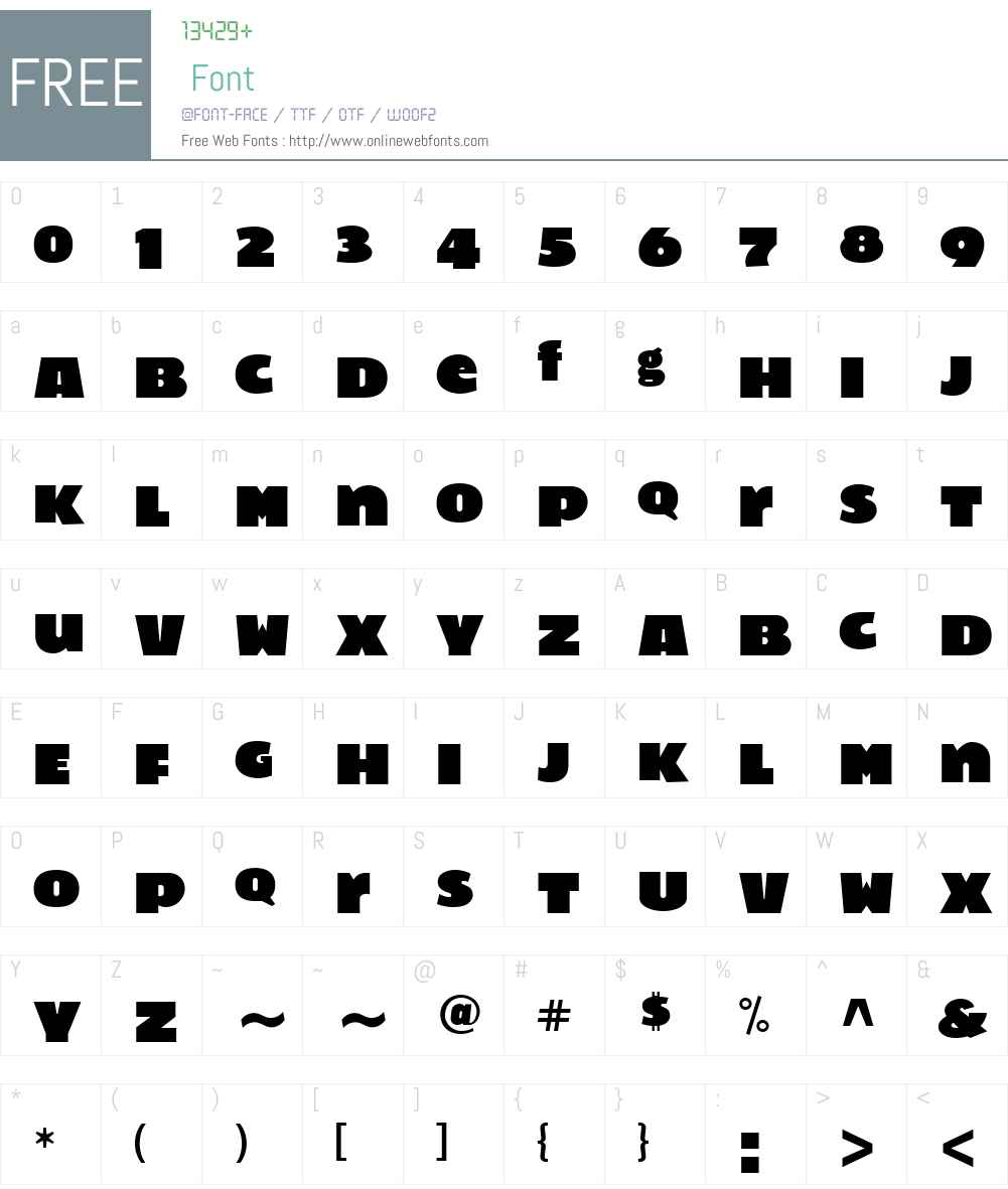 Filt Font Screenshots