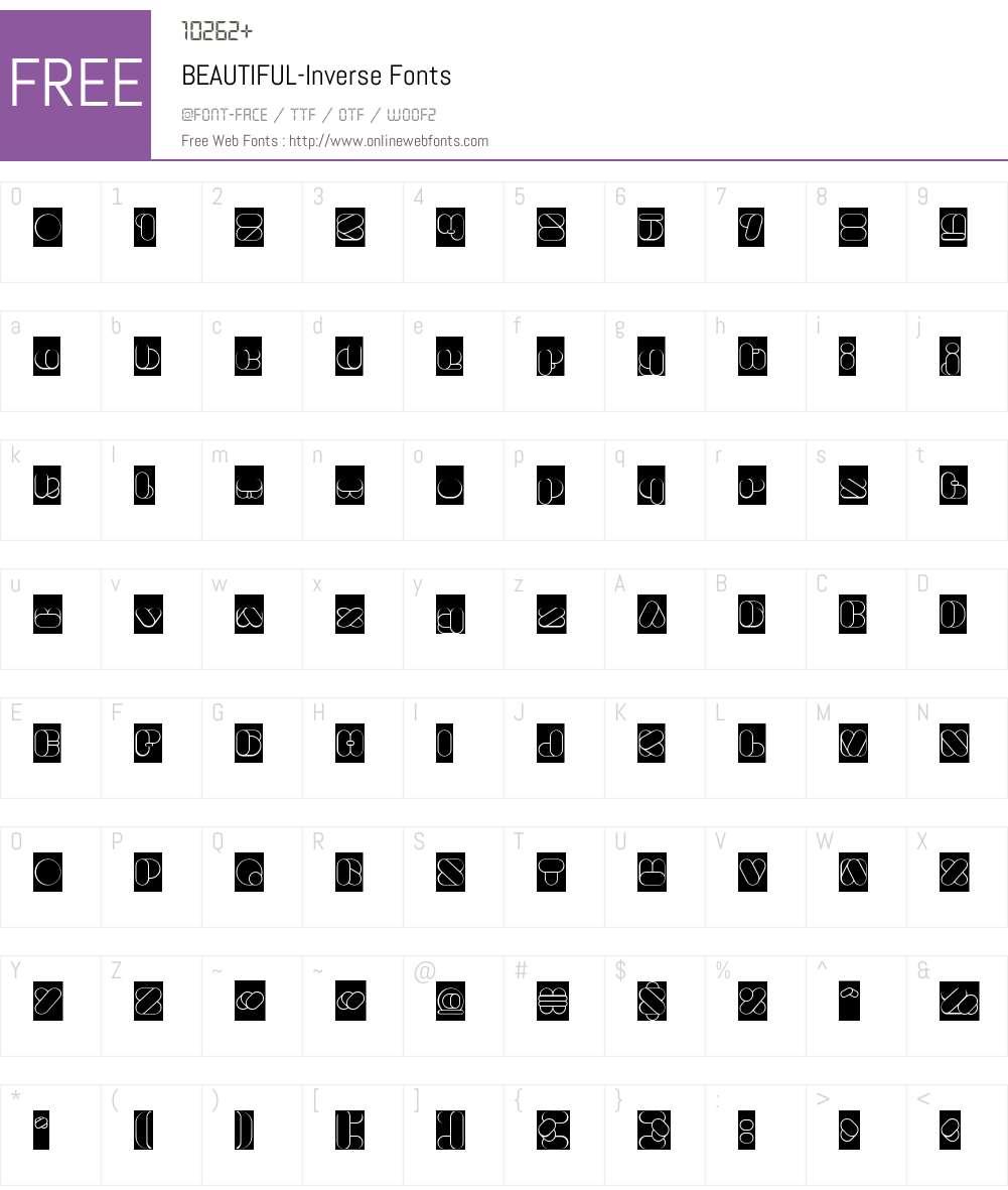 BEAUTIFUL-Inverse Font Screenshots