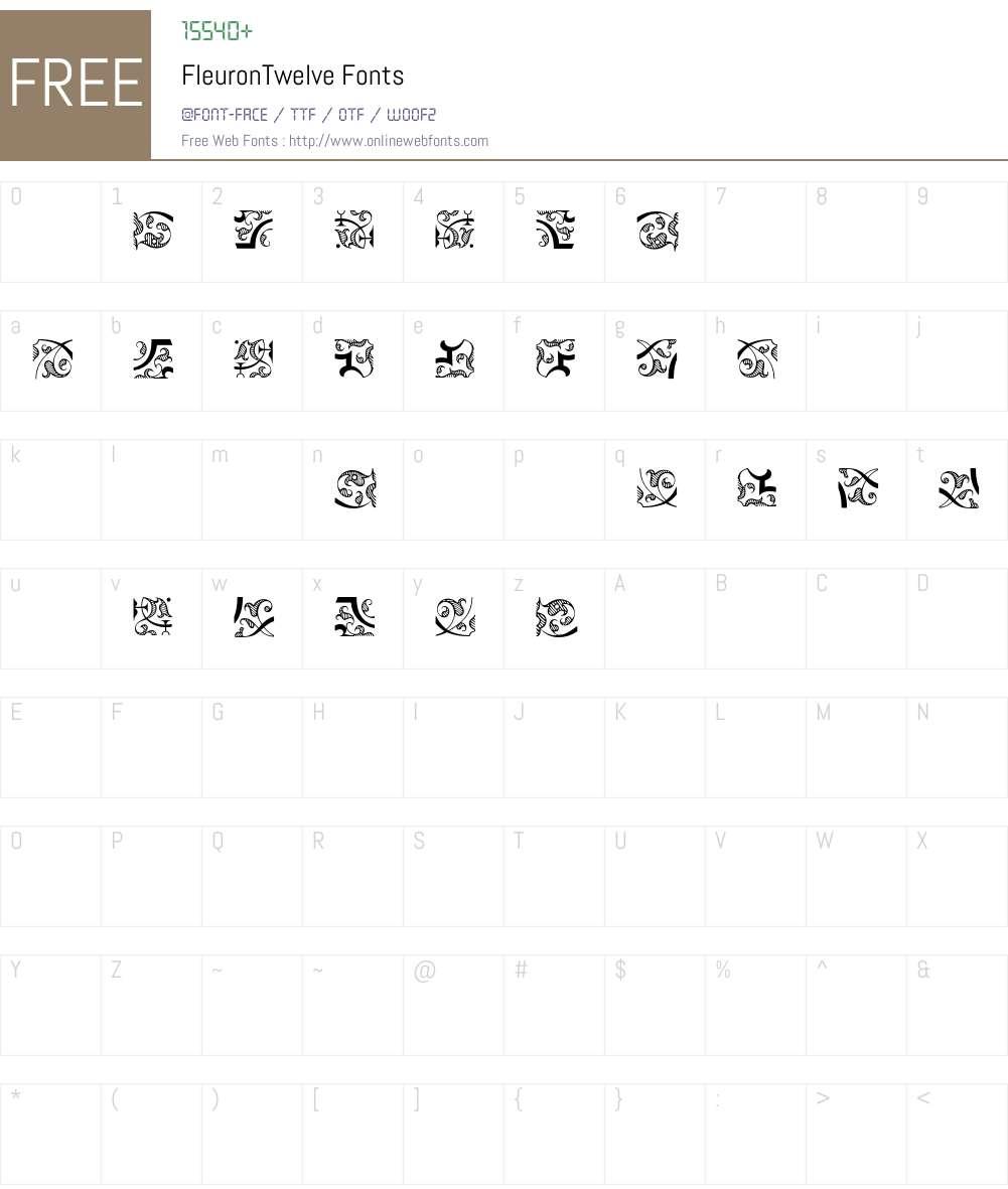 Fleuron Font Screenshots