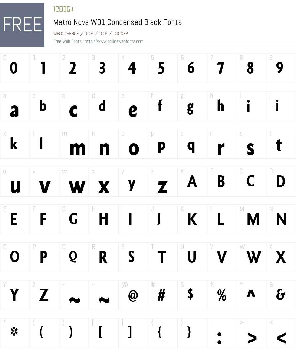 MetroNovaW01-CnBlack Font Screenshots