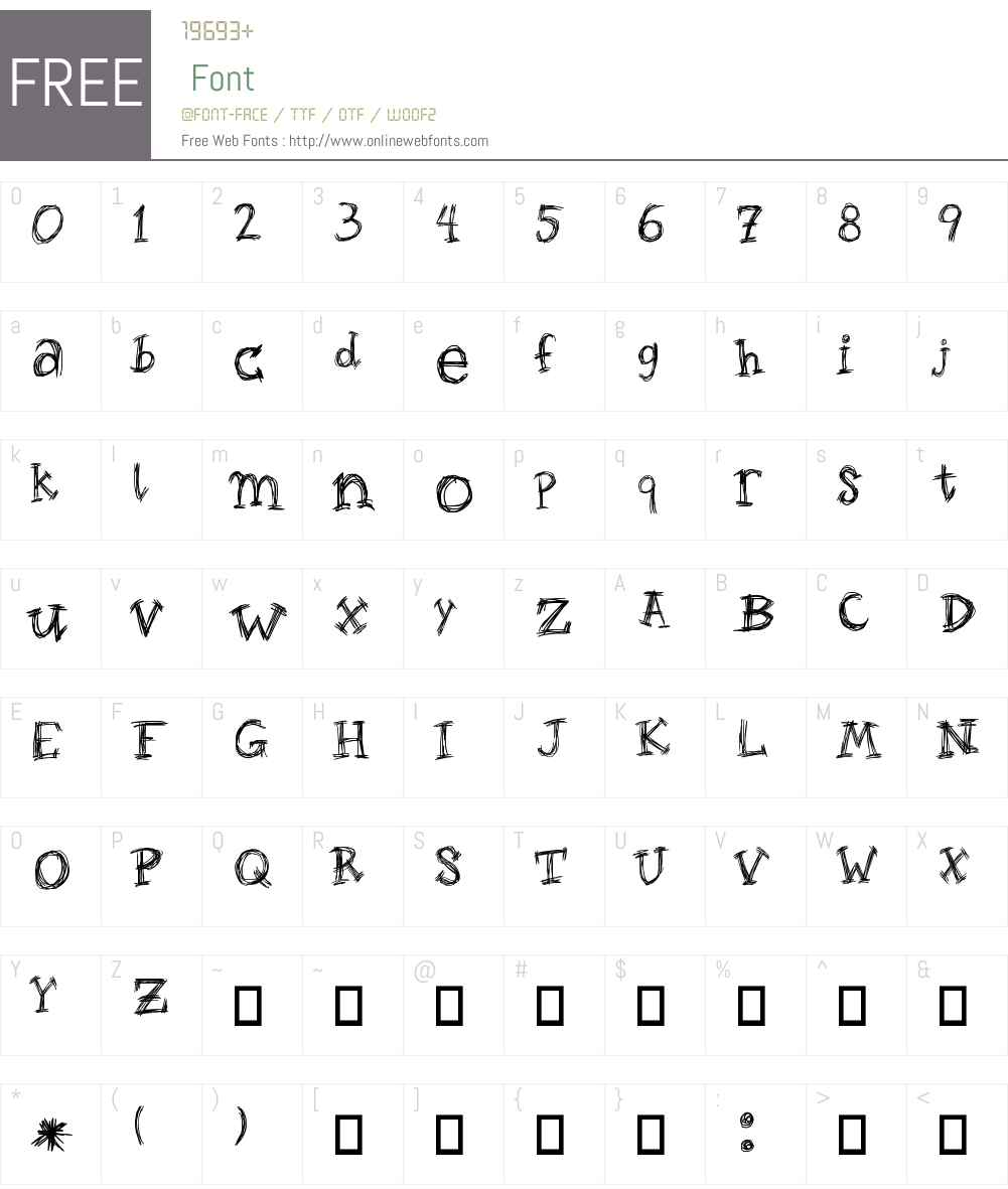 Roughage Serif Font Screenshots