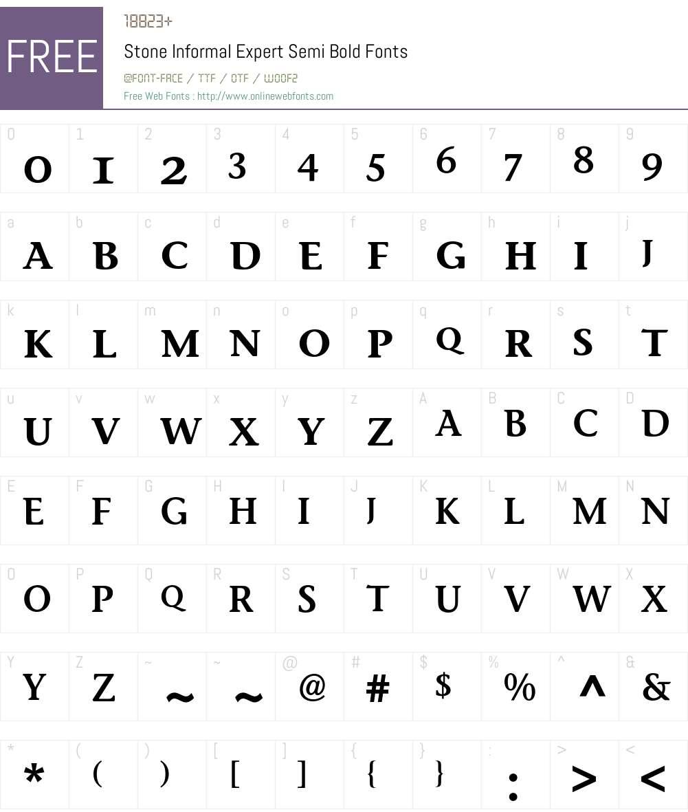 Stone Informal Expert BQ Font Screenshots