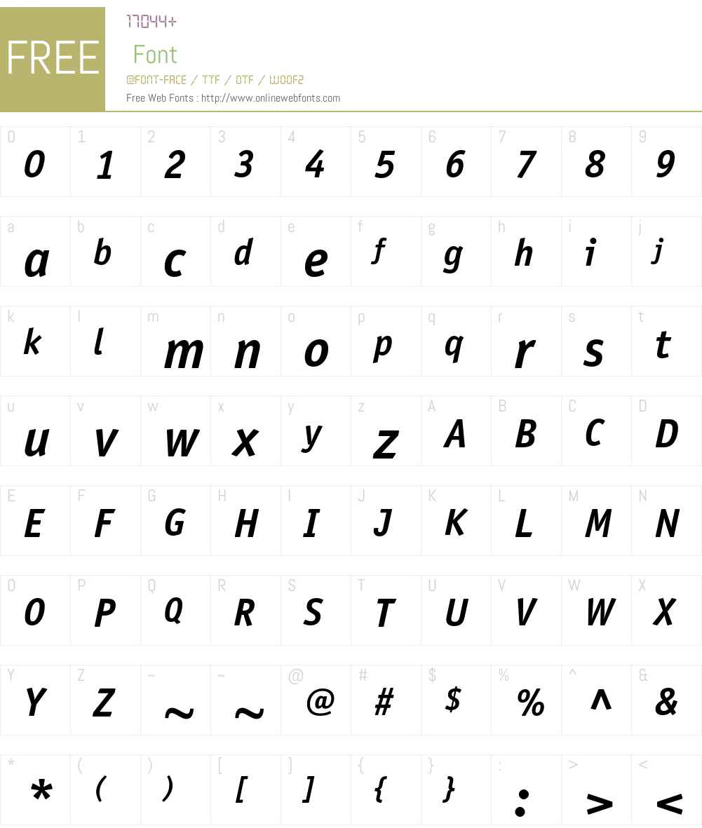 ITC Officina Sans LT Font Screenshots