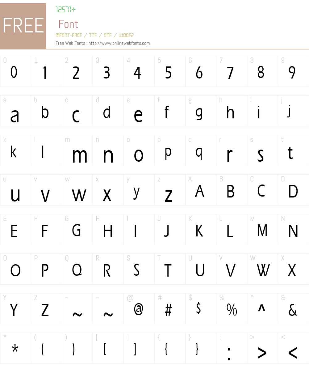 ErgoeMediumCondensed Font Screenshots