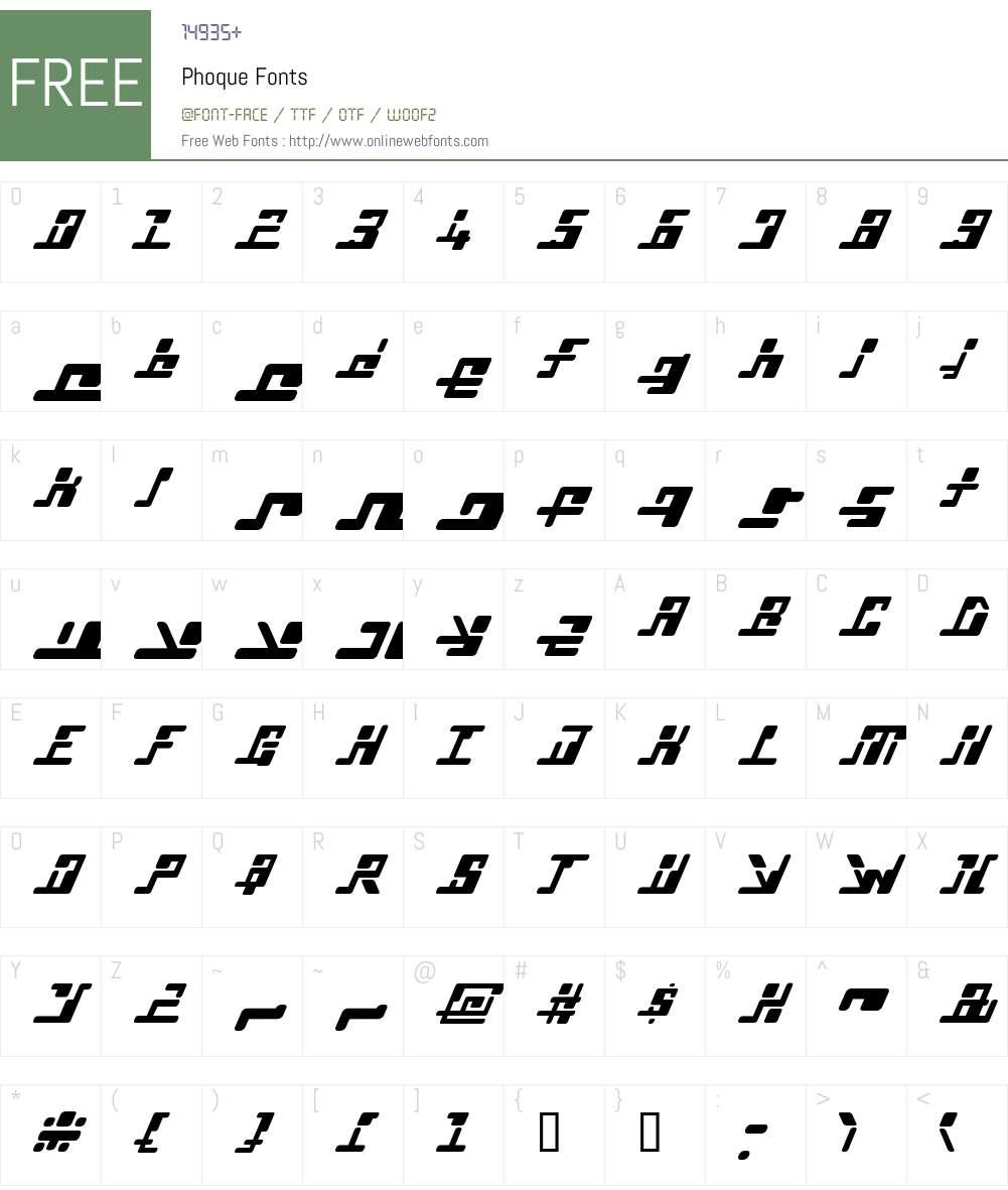 Phoque Font Screenshots