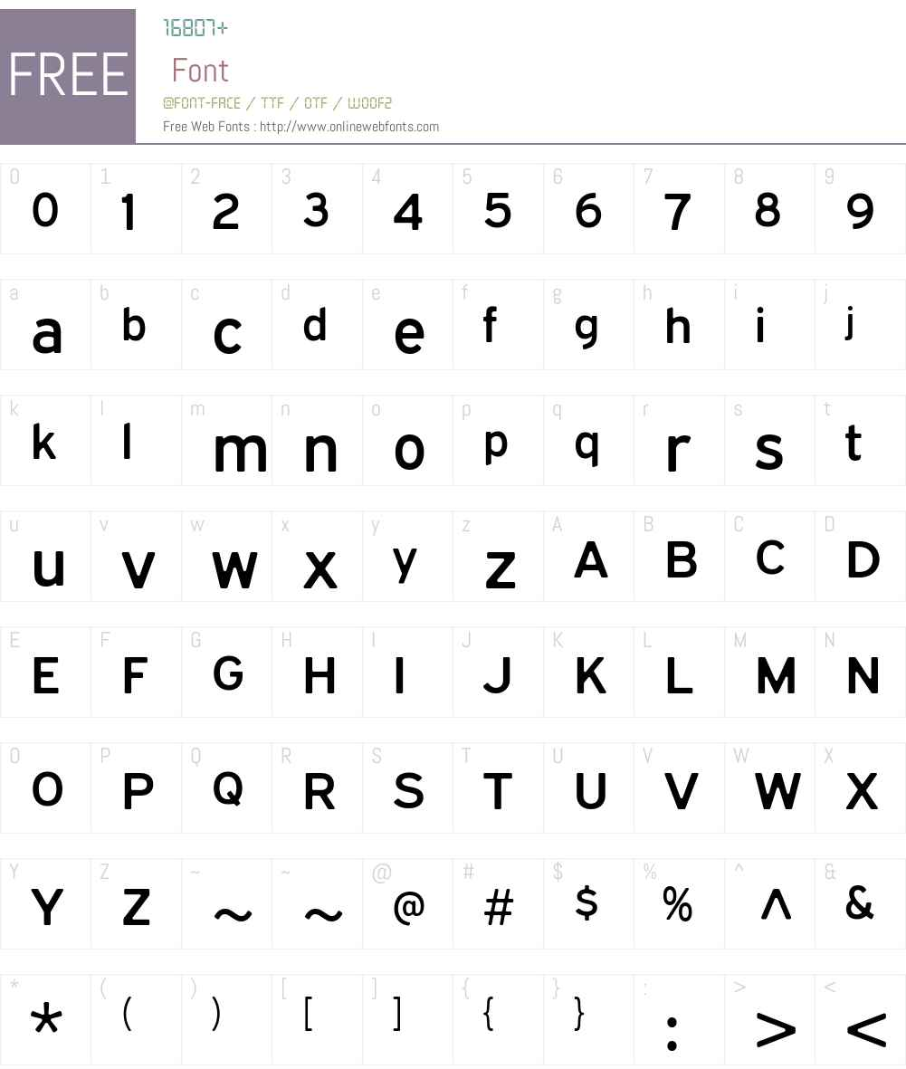 ExpresswaySoftSb-Regular Font Screenshots