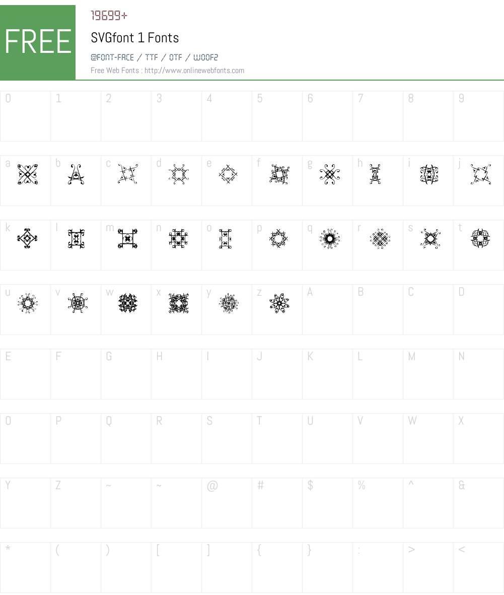 SVGfont 1 Font Screenshots