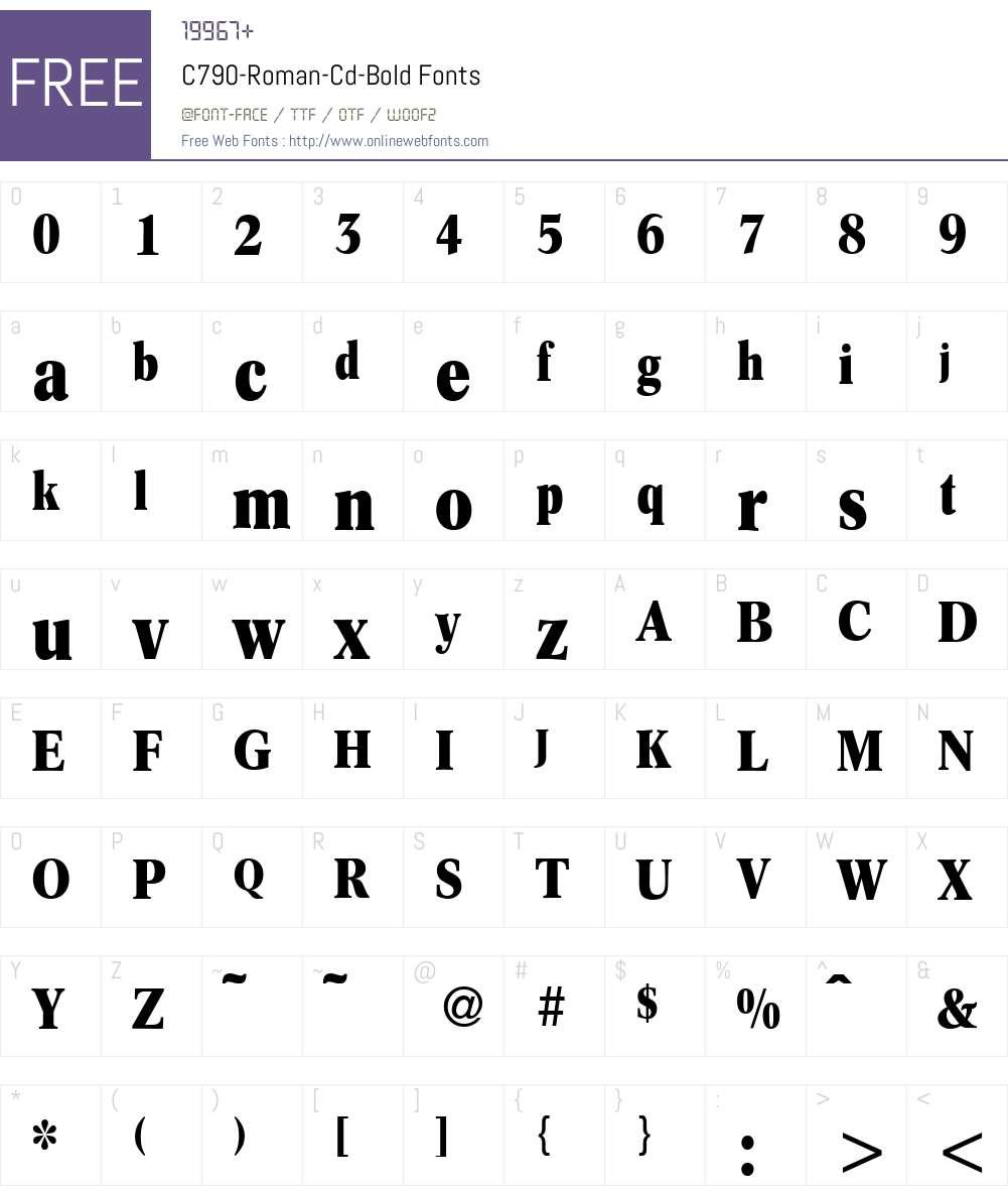 C790-Roman-Cd Font Screenshots