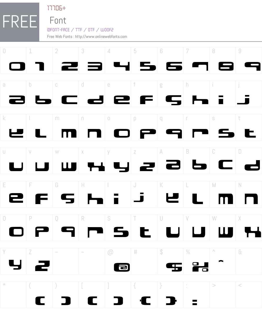 ElectroBazar Font Screenshots