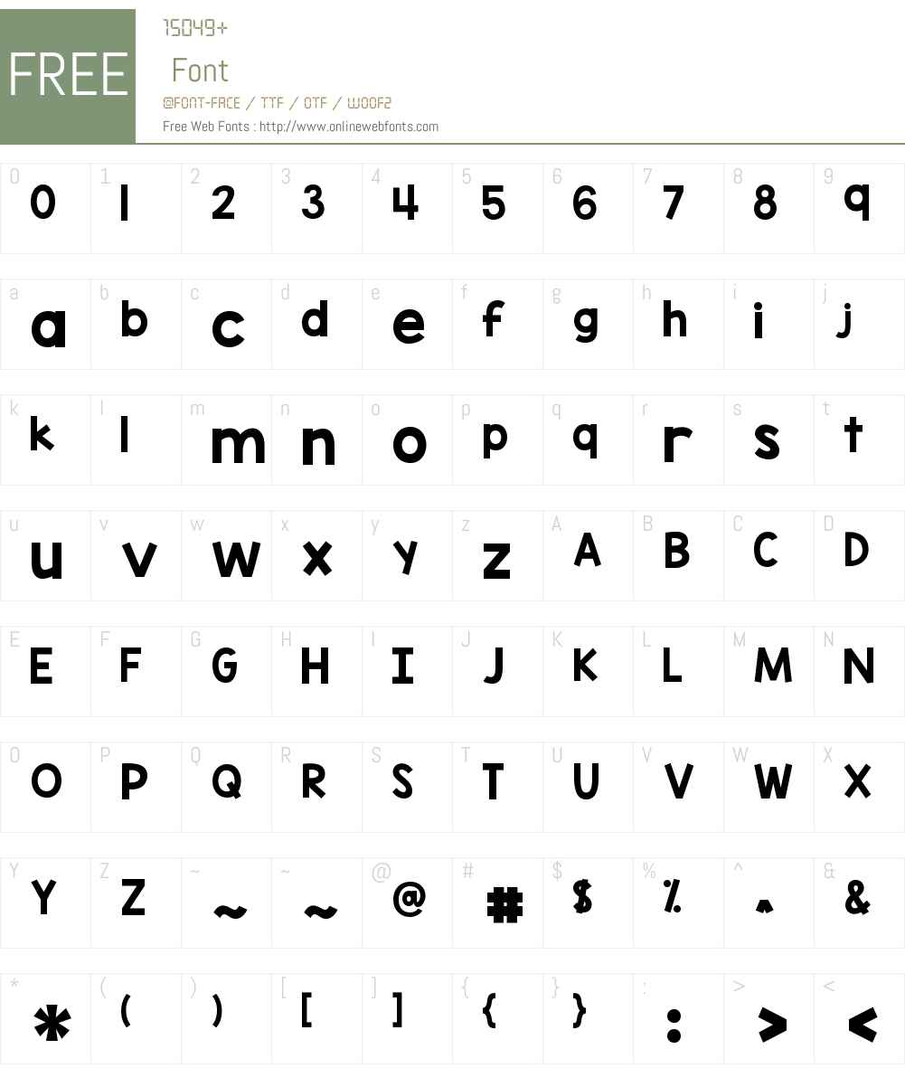 KG Blank Space Solid Font Screenshots