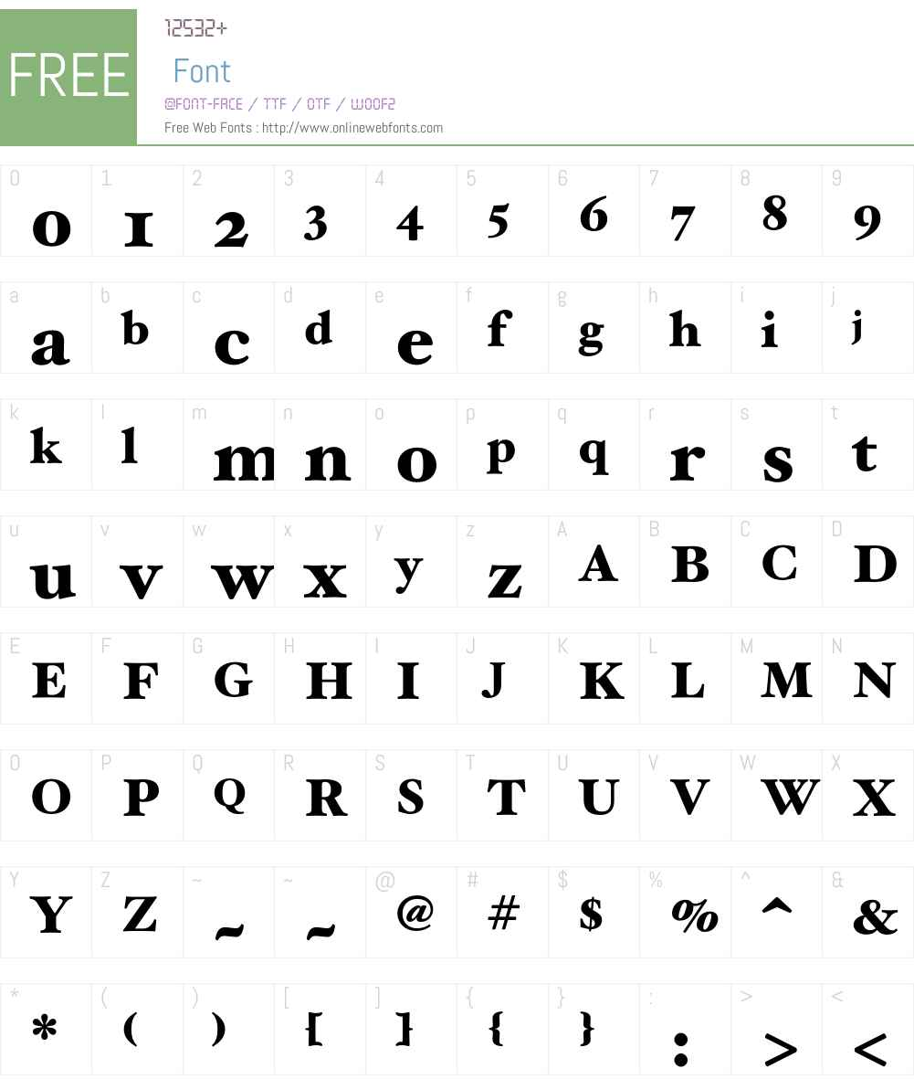 HoeflerText Font Screenshots