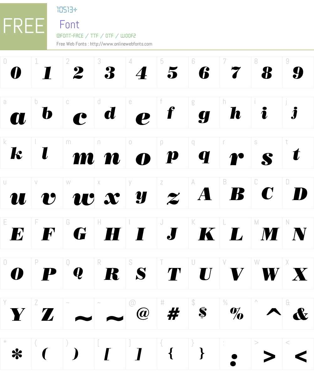 Poster Bodoni Font Screenshots