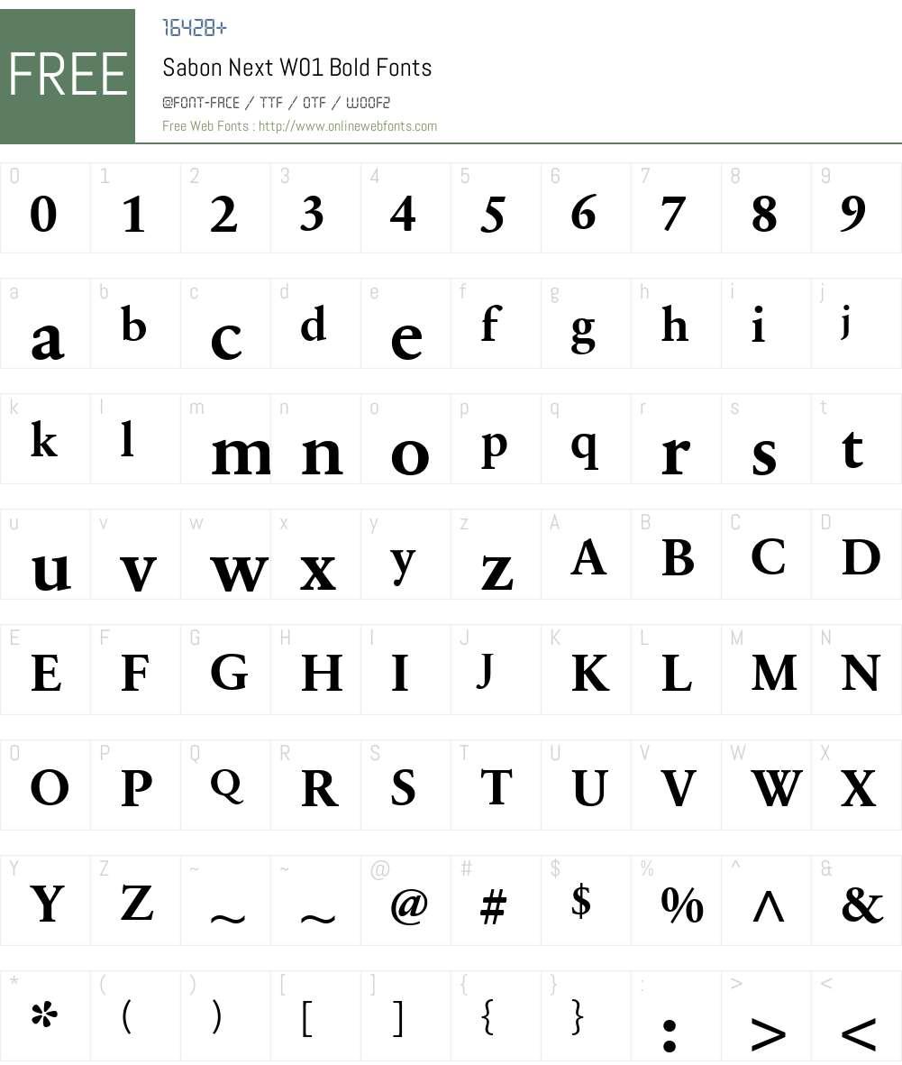 SabonNextW01-Bold Font Screenshots