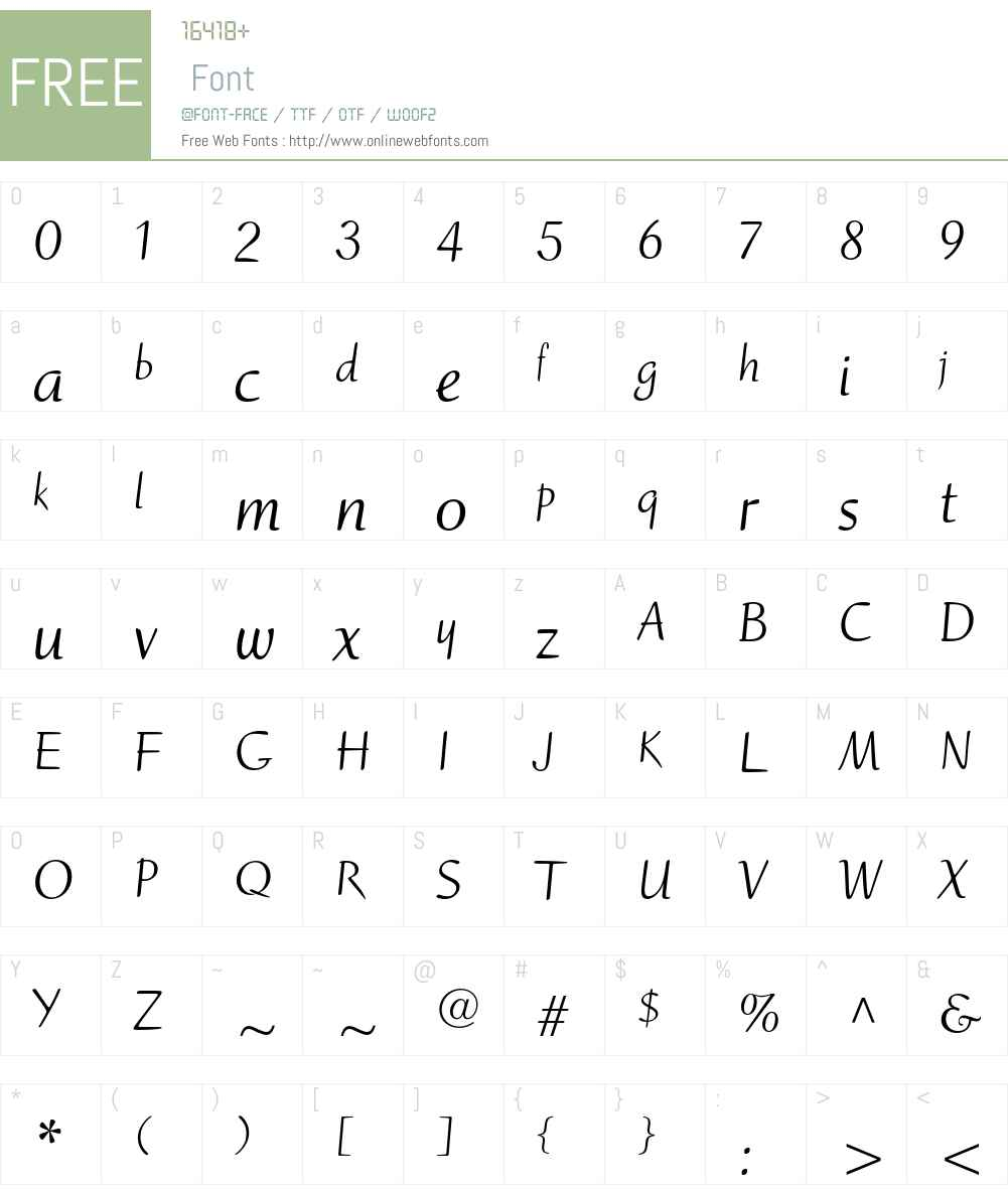 Ruzicka Freehand LT Std Font Screenshots