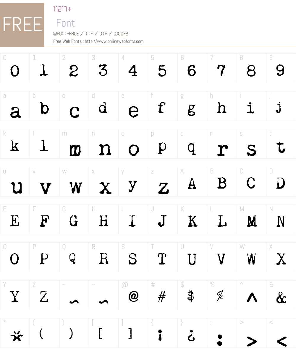 Remington Noiseless Font Screenshots