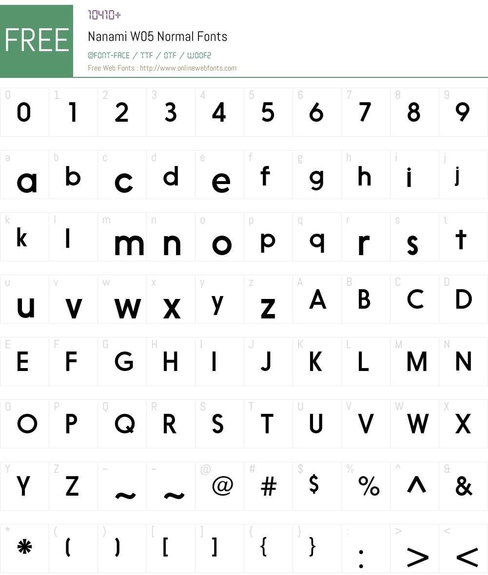 NanamiW05-Normal Font Screenshots
