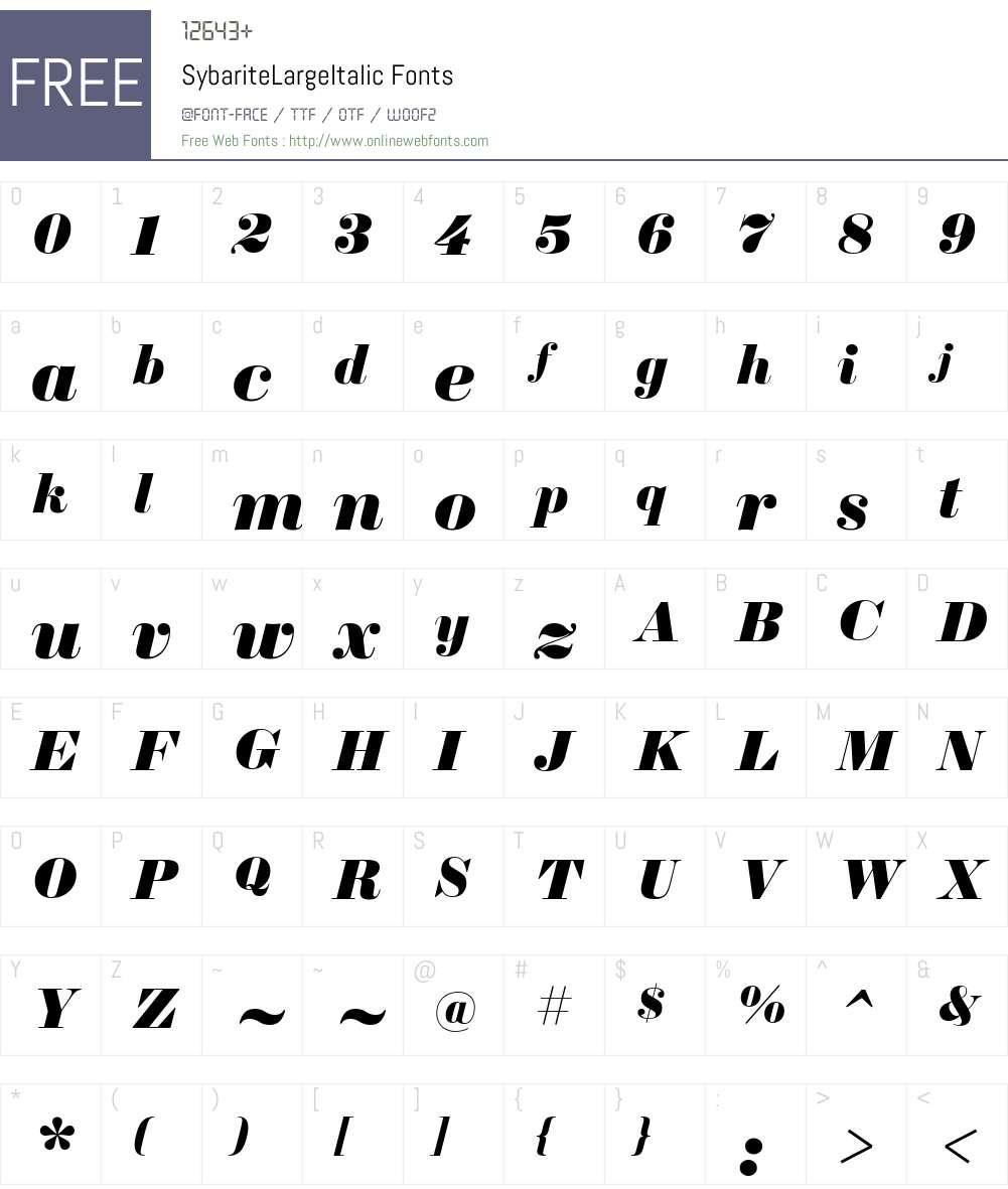 Sybarite Large Font Screenshots