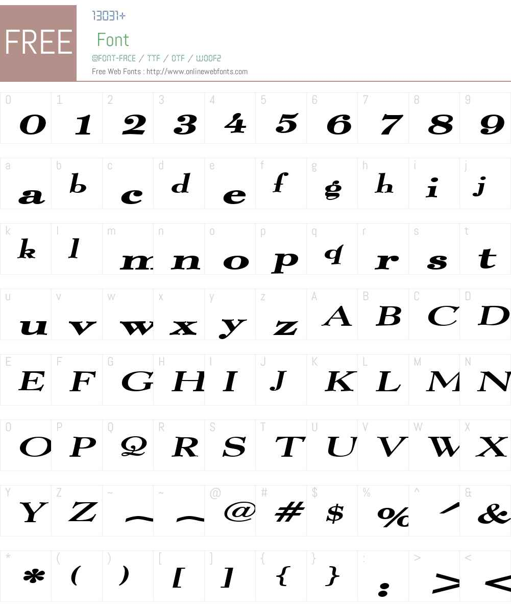 Luciano Extended Font Screenshots