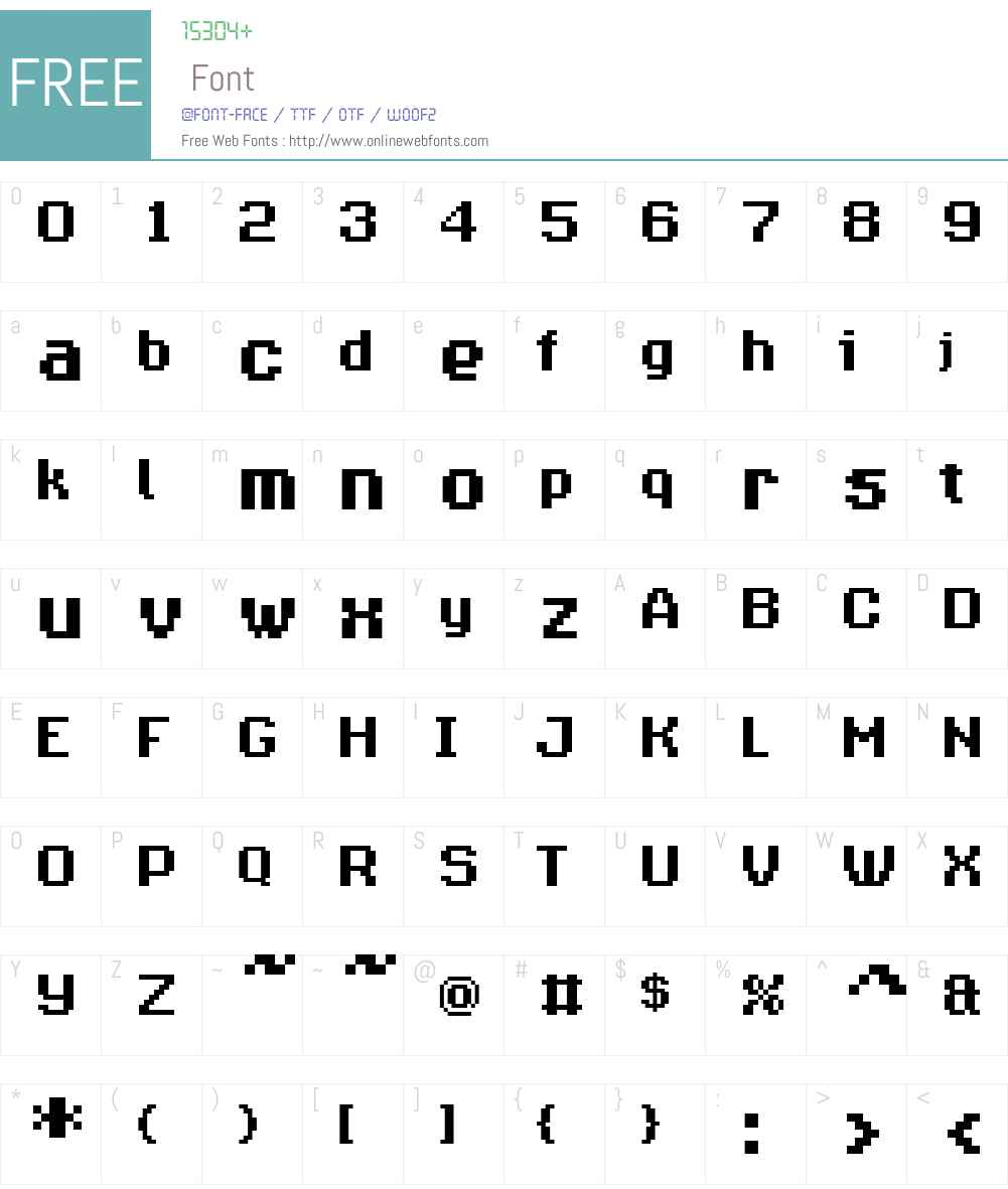 Supernormale Font Screenshots