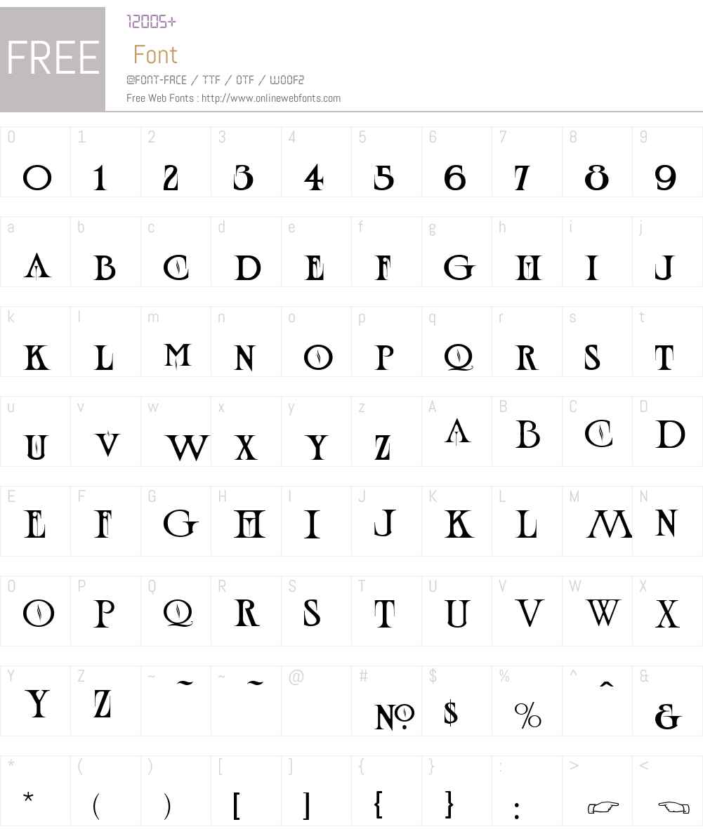 LHF Wolverine Font Screenshots