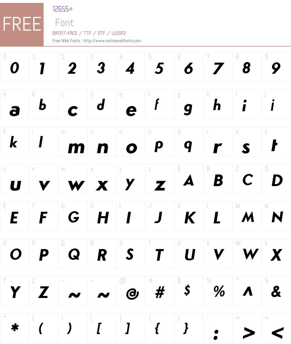 SimploW00-HeavyItalic Font Screenshots