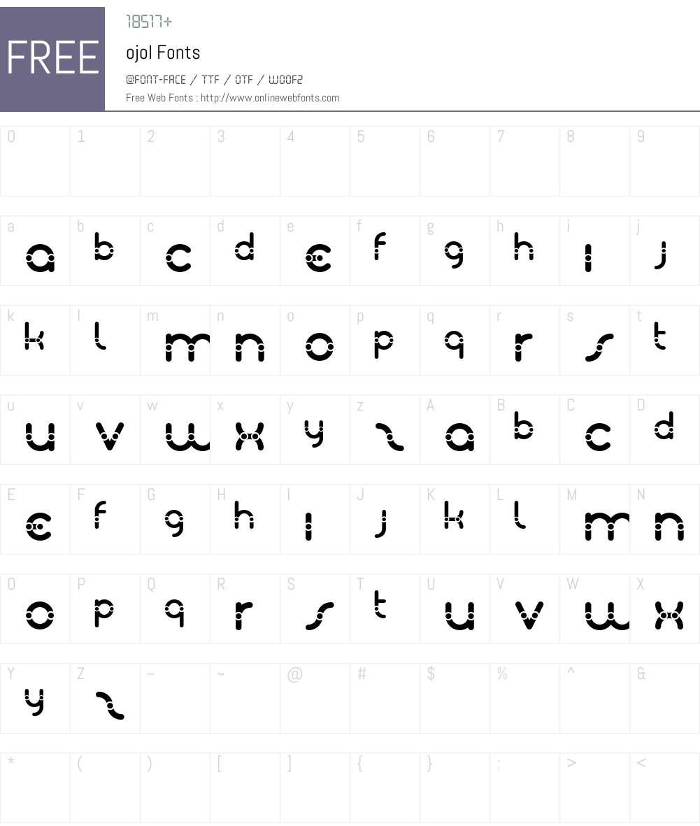 ojol Font Screenshots